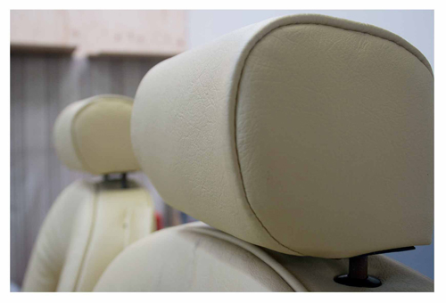 leather seat upholstery detail